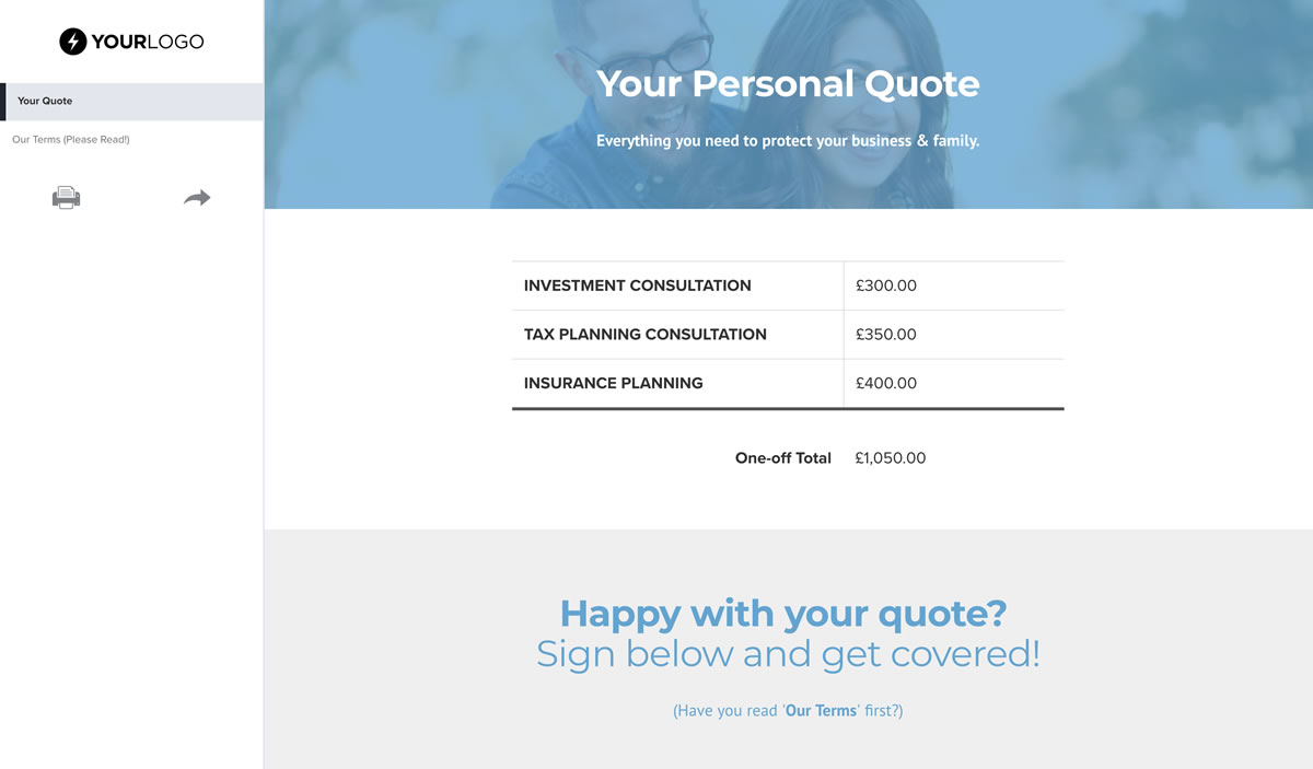 Cell phone, if none enter n/a: Free Insurance Quote Template Better Proposals