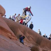 Mountain bike coach Gene Hamilton Mushroom rock