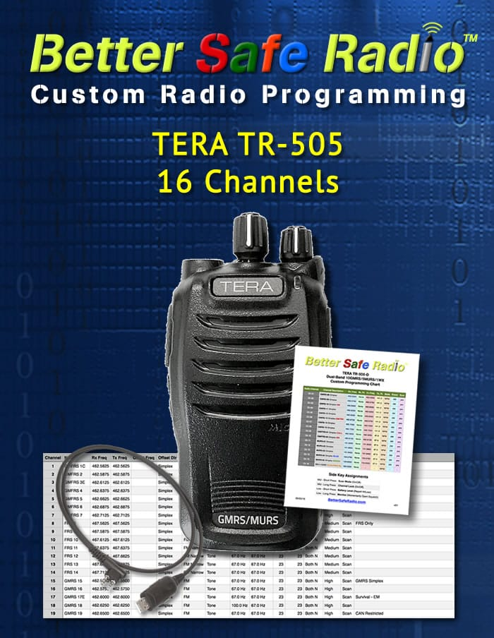 BSR-PRG505 Custom Radio Programming for TERA TR-505