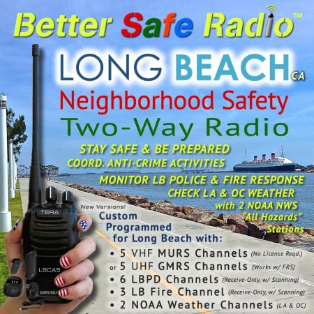 BetterSafeRadio TR-505 Long Beach Neighborhood Safety Two-Way Radio