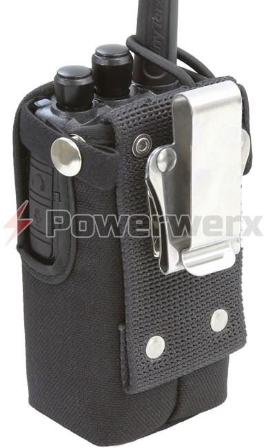 Powerwerx CSC-868 Heavy Duty Nylon Windowed Radio Case with Stainless  Swivel Belt Clip