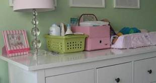changing table in the nursery