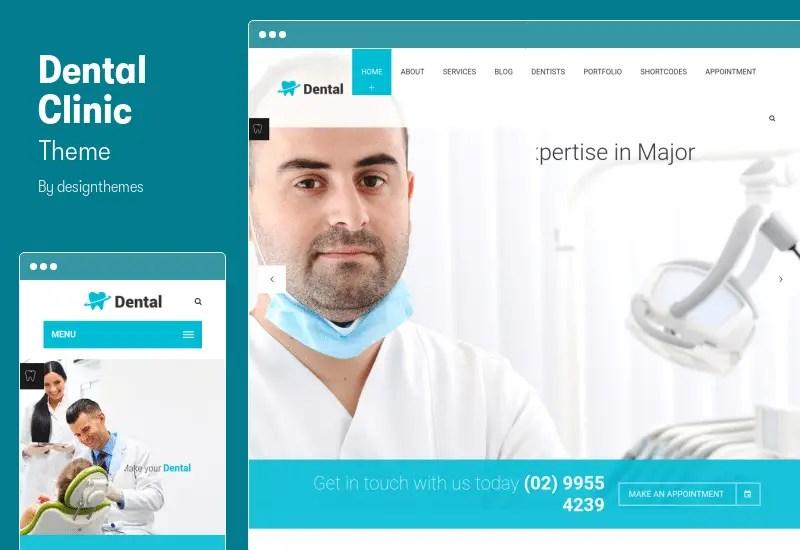 Dental Clinic Theme - Dentist WordPress Theme