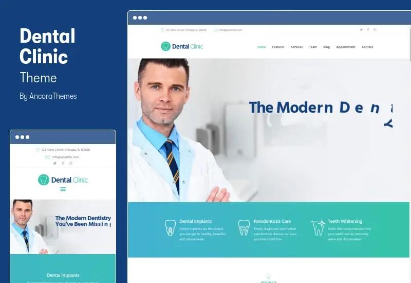 Dental Clinic Theme - Medicine & Healthcare Doctor WordPress Theme