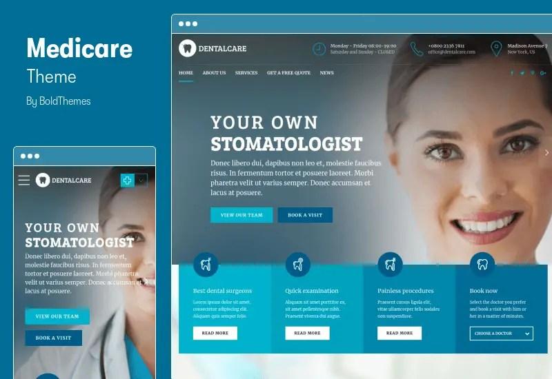 Medicare Theme - Doctor, Medical & Healthcare WordPress Theme
