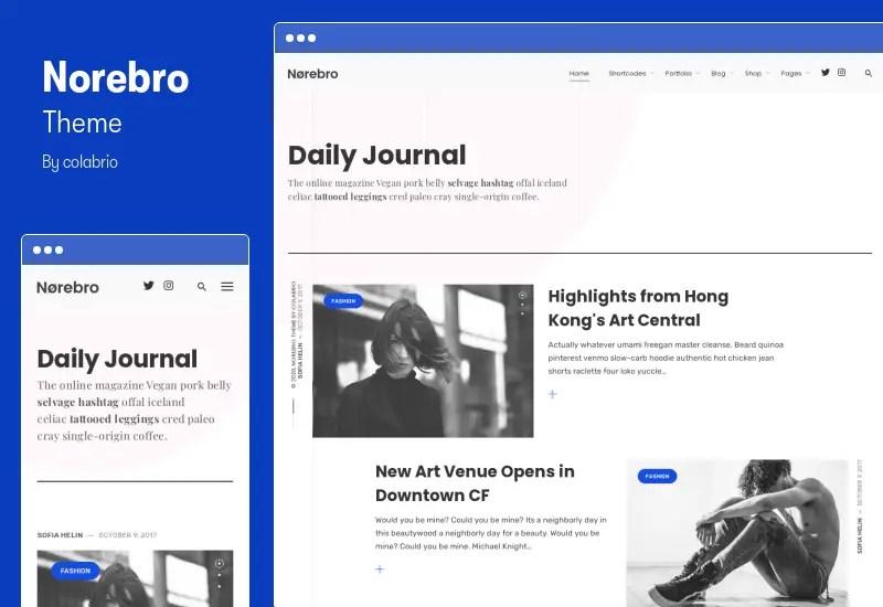 Norebro Theme - Creative Portfolio Theme for Multipurpose Usage