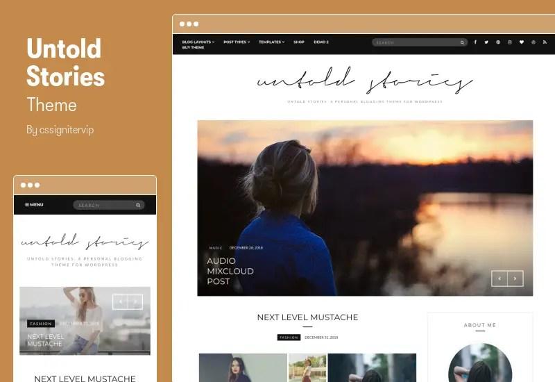 Untold Stories Theme - Fashion Blog WordPress Theme