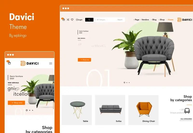 Davici Theme - RT Furniture WooCommerce WordPress Theme