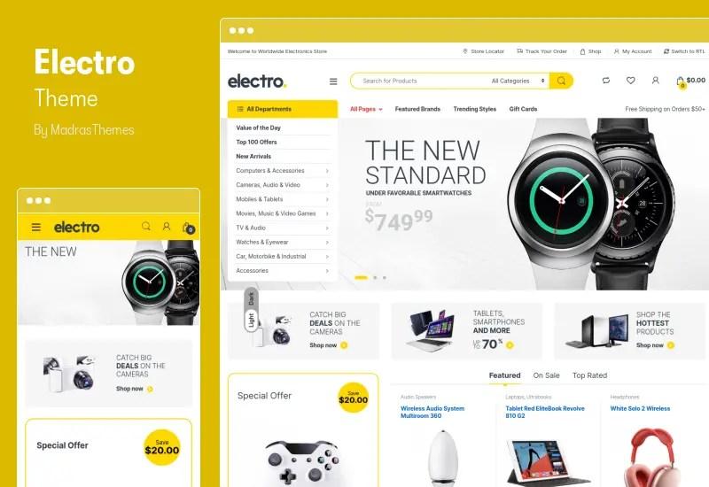Electro Theme - WooCommerce Elementor Theme