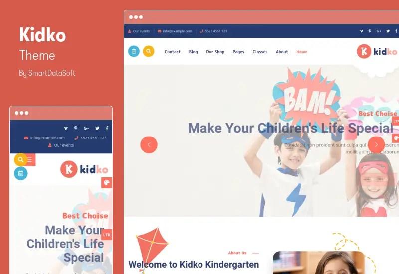 Kidko Theme - RTL Kindergarten & Baby Care WordPress Theme