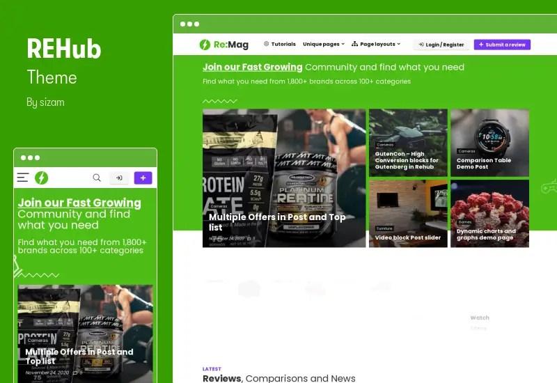 REHub Theme - Affiliate Marketing Elementor Theme