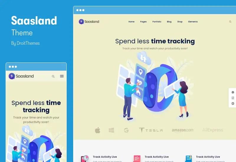 Saasland Theme - SaaS Startup Elementor Theme