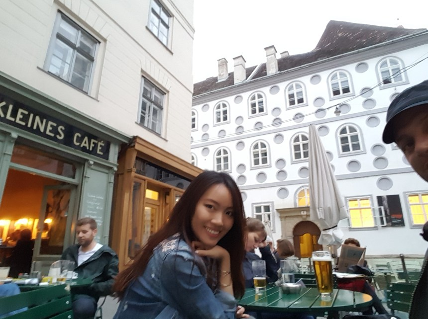Kleinst cafe vienna austria before sunrise