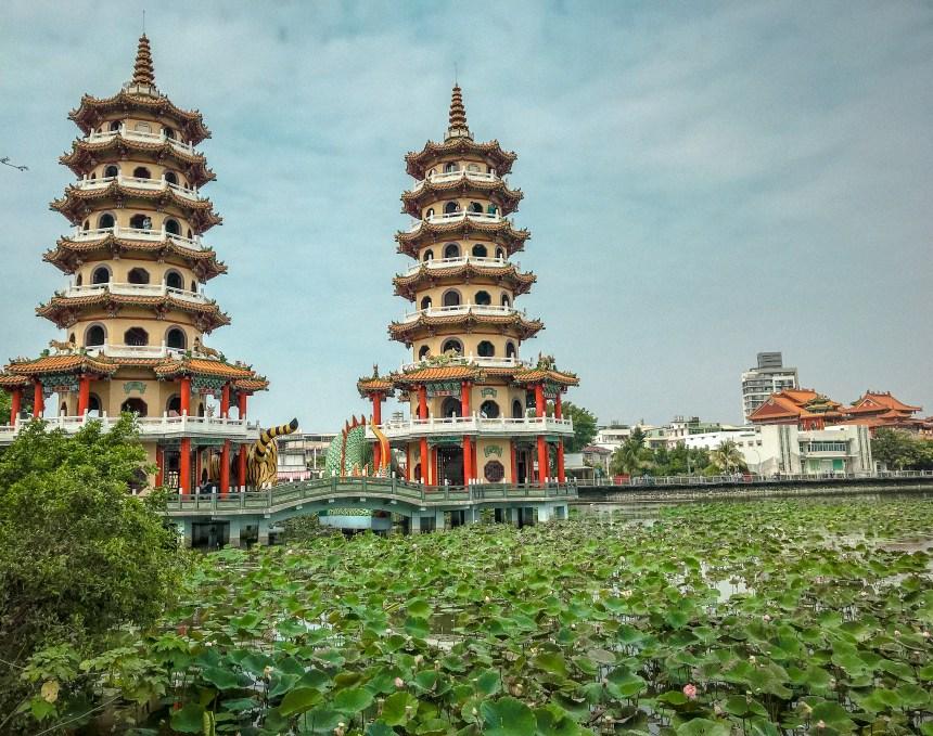 Dragon and Tiger Pagodas at Lotus Pond 龍虎塔,蓮池潭 Taiwan
