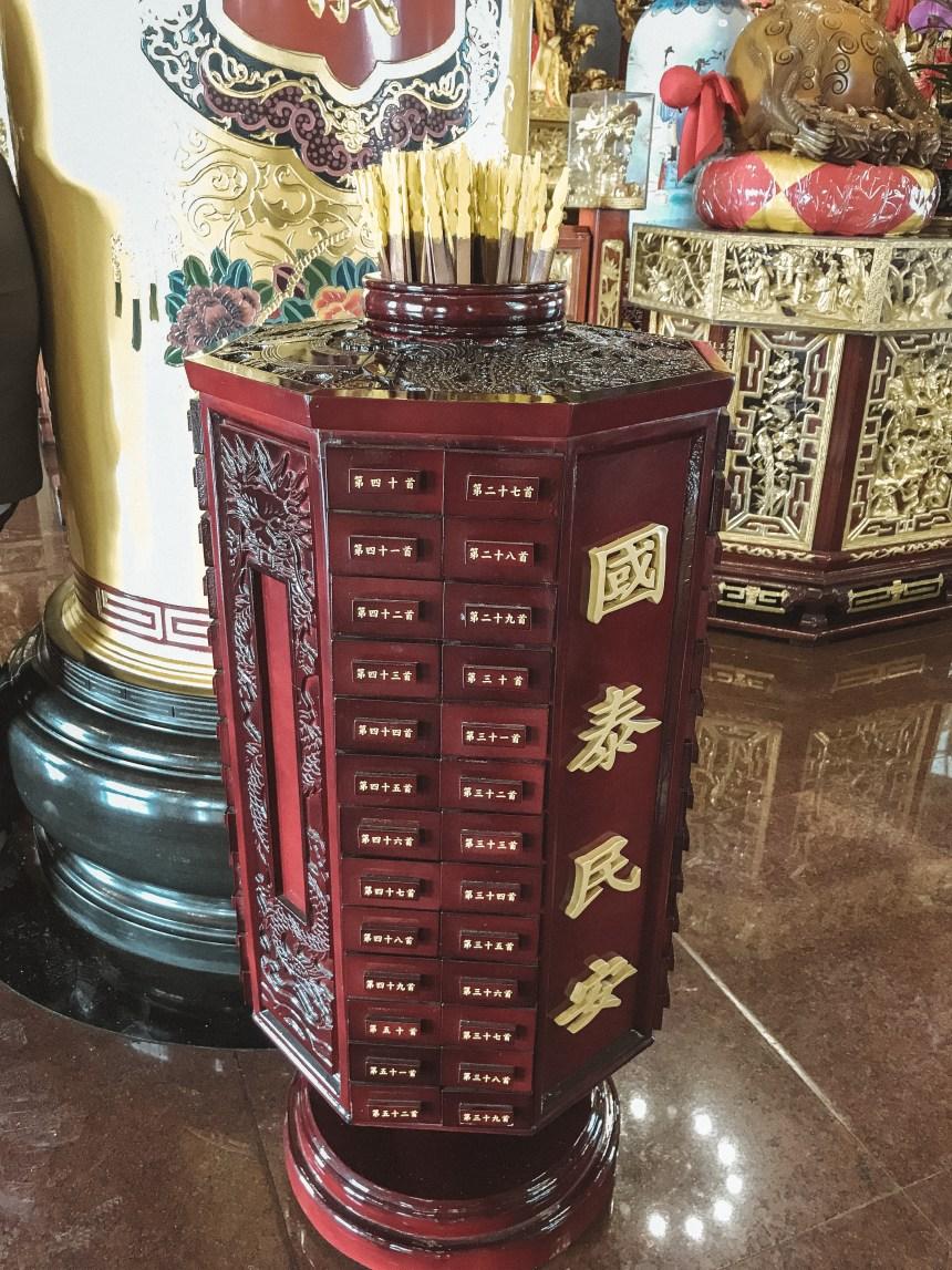 Taiwan worshipping in Qimingtang (Qiming temple) 啟明堂 in Kaoshoing