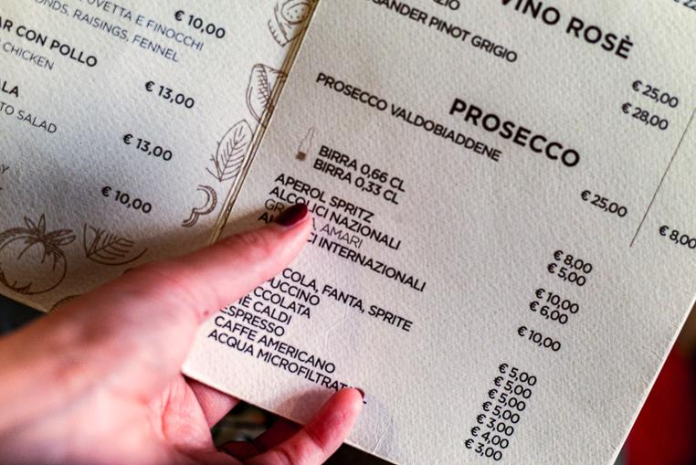 Agrodolce Roma menu