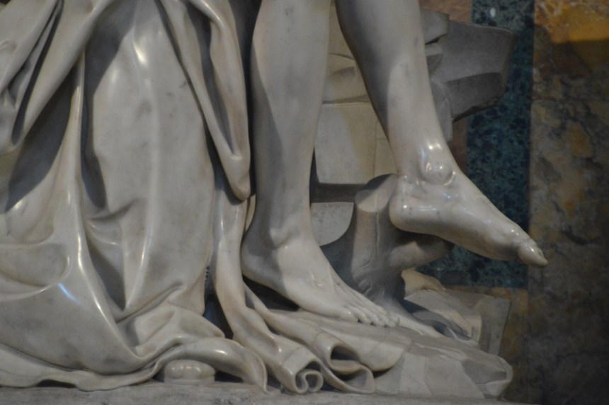 Pieta feet Vatican