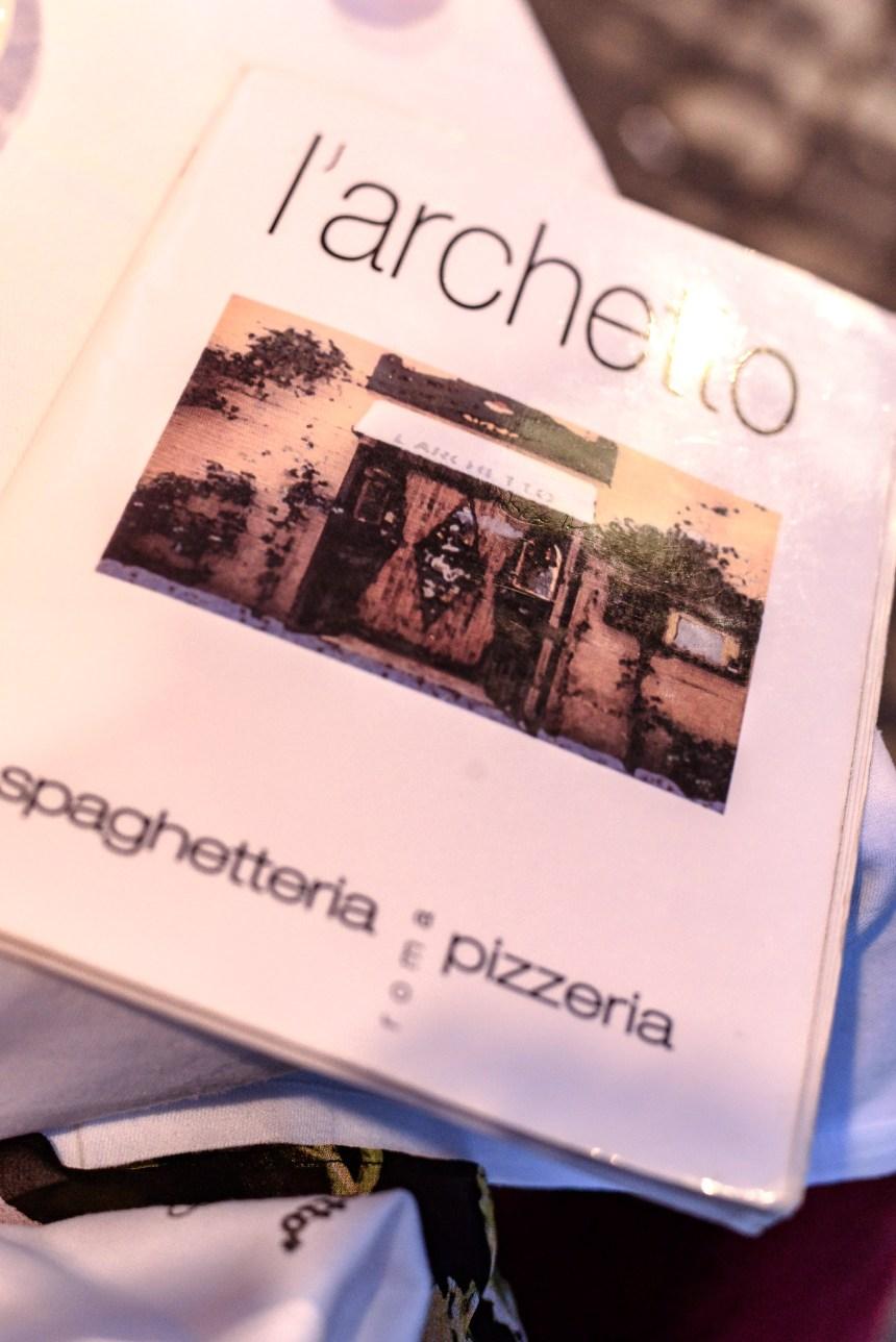 Spaghetteria l'Archetto menu