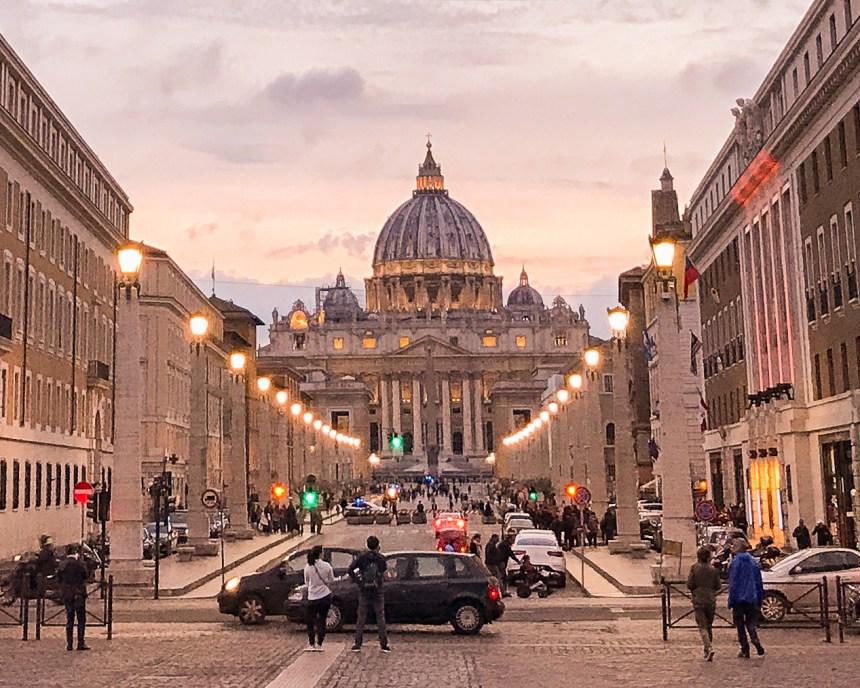 sunset Vatican city