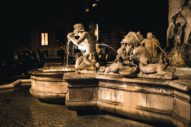 Piazza Navona picturesque Rome