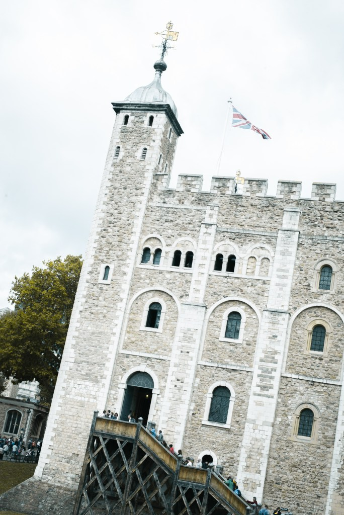 white tower in Tower of London