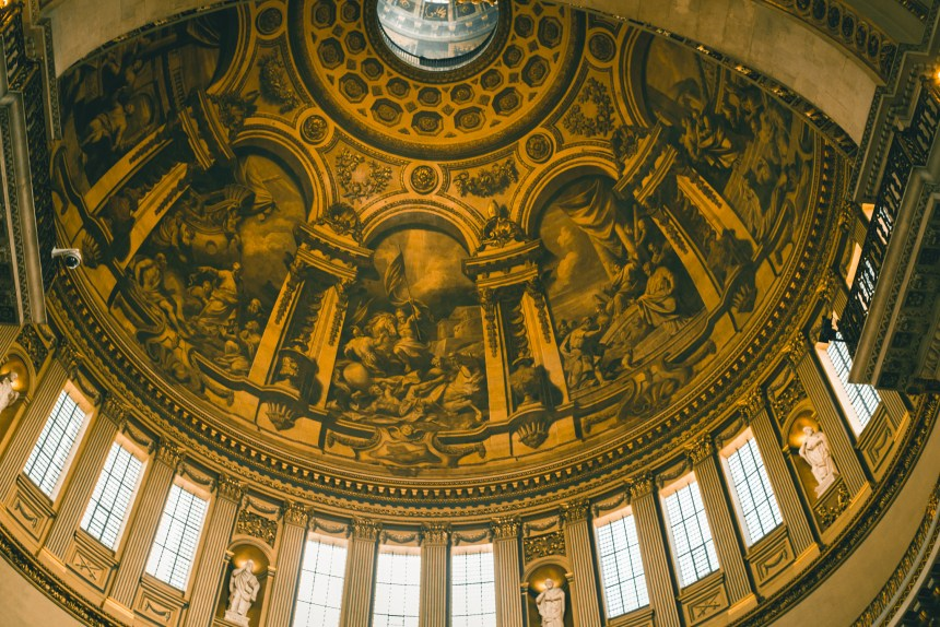 ceiling mythology in St. Paul's Cathedral guide