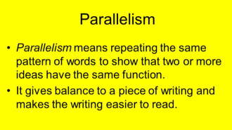 Parallelism in TOEFL speaking and writing