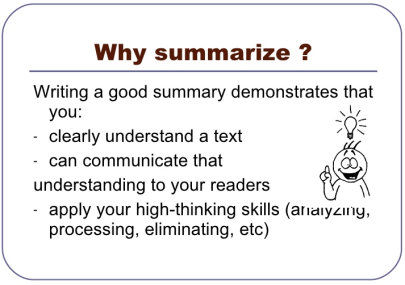 TOEFL summary tips