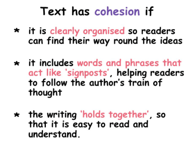 TOEFL cohesion examples