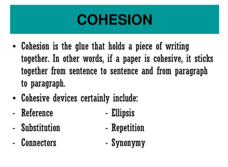 TOEFL cohesion tips