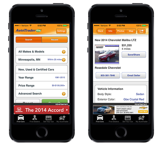 AutoTrader iPhone App - Better with Family (www.betterwithfamily.com)