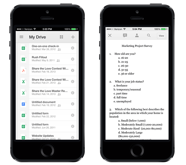 Google Drive iPhone App - Better with Family (www.betterwithfamily.com)