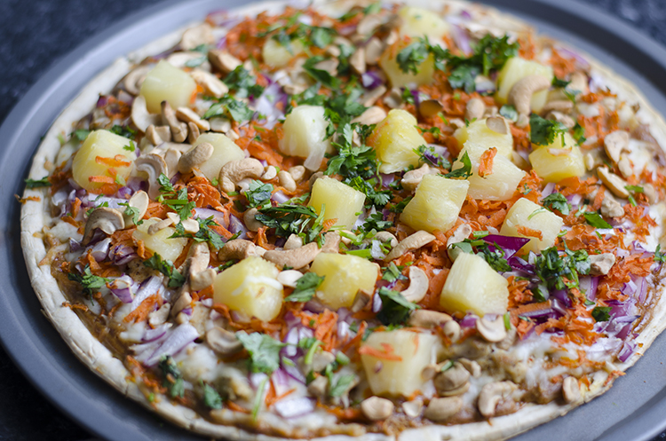 Thai Peanut Chicken Pizza