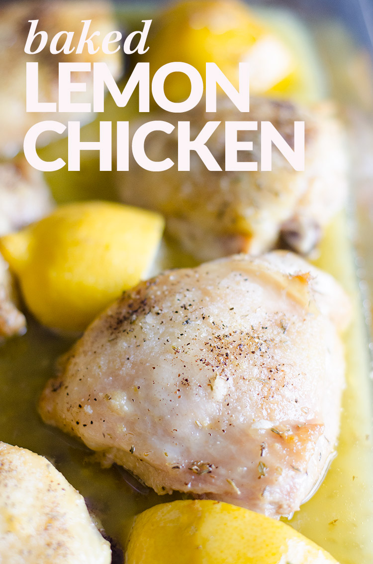 Baked Lemon Chicken | www.betterwithfamily.com