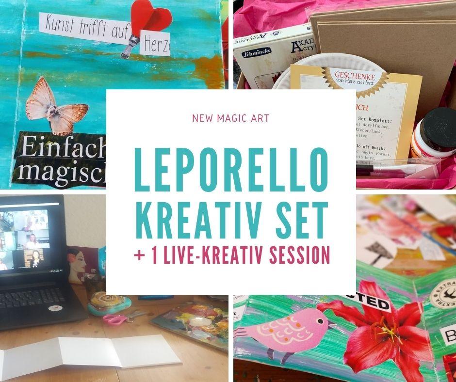 Geschenkidee zum Valentinstag Magischer Koffer & Leporello Kreativ Set inklusive einer LIVE-Kreativ Session mit Bettina