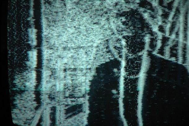 Talking Man, 2007, C-Print, Leuchtkasten, Maße 30 x 30 x 10 cm