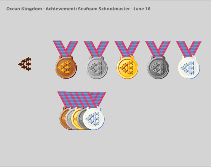 Ocean Kingdom - Achievement medals - concept