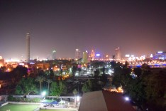 Cairo at night from our balcony