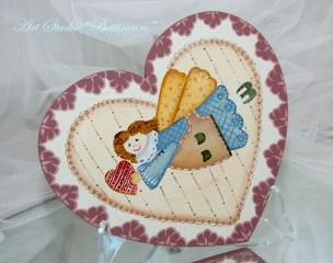 Aniołkowe serce malowane ręcznieAniołkowe serce malowane ręcznie