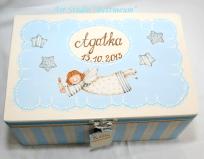 Pudełko wspomnień Agatka, malowane ręcznie