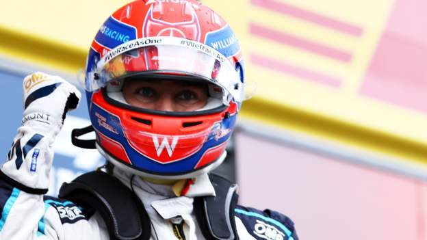 Belgian Grand Prix: George Russell takes second as Max Verstappen on pole