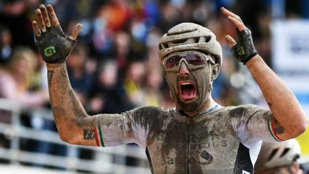 Paris-Roubaix: Italian Sonny Colbrelli wins men's race after late drama