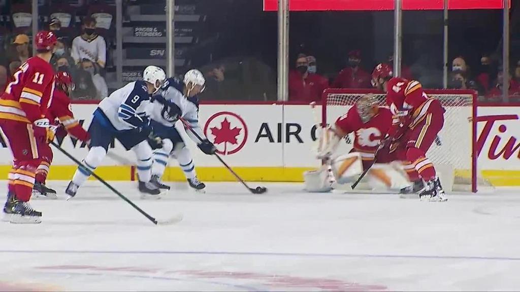 a Goalie Save from Calgary Flames vs. Winnipeg Jets