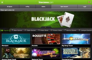 Stan James mobile app games (iPad)