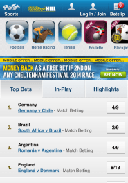 WIlliam Hill Android App