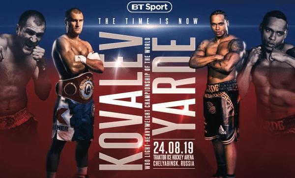 Kovalev Yarde Betting Odds