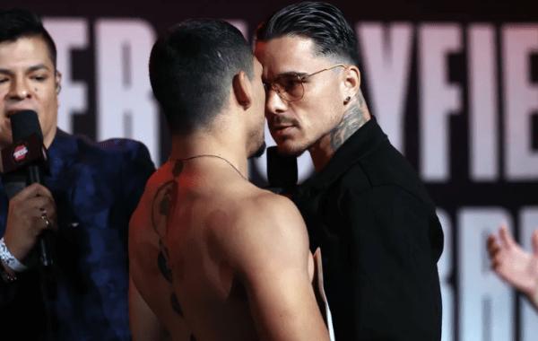 Lopez vs Kambosos Stare Down