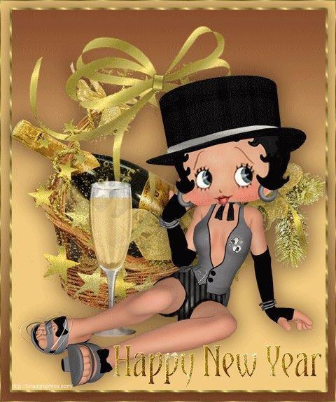 New Year Betty Boop