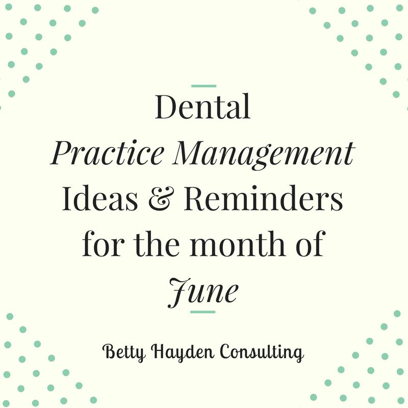 betty hayden consulting dental practice management