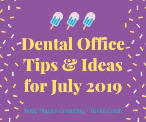 Dental Coach Summer Dental Ideas